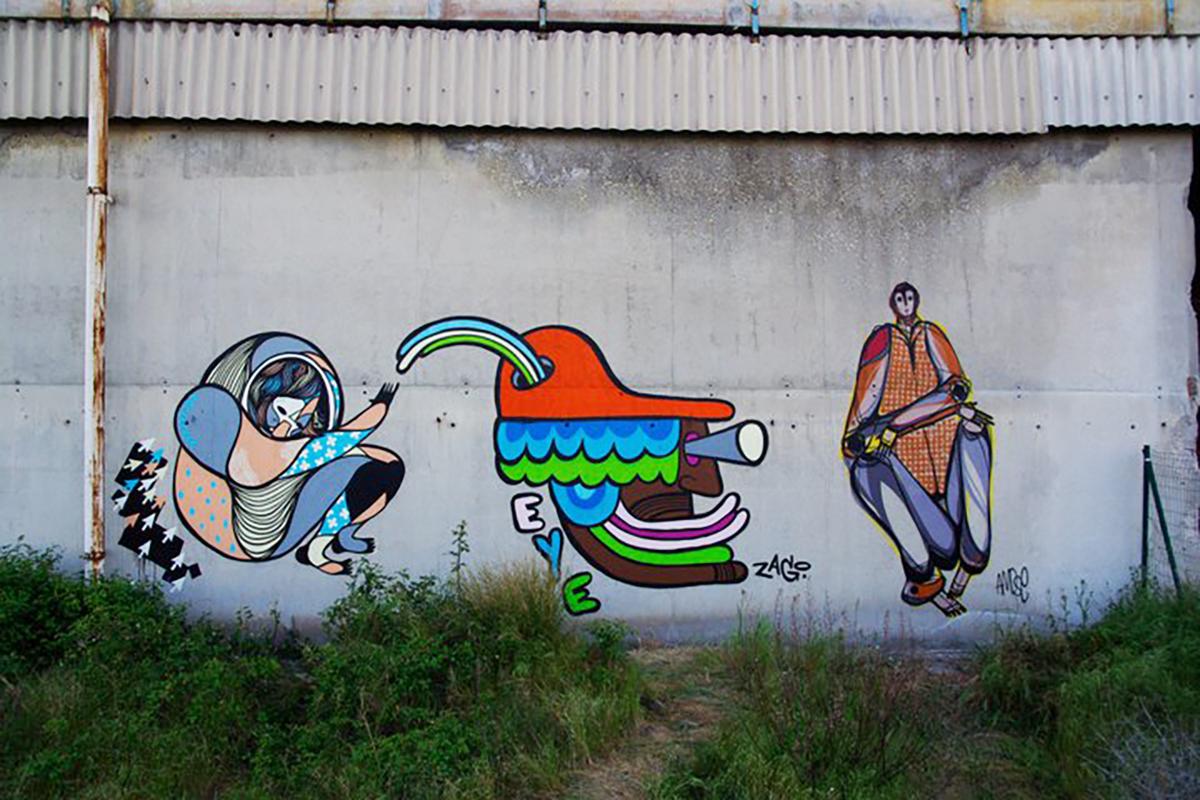 Fresque Graffiti GoddoG Avignon