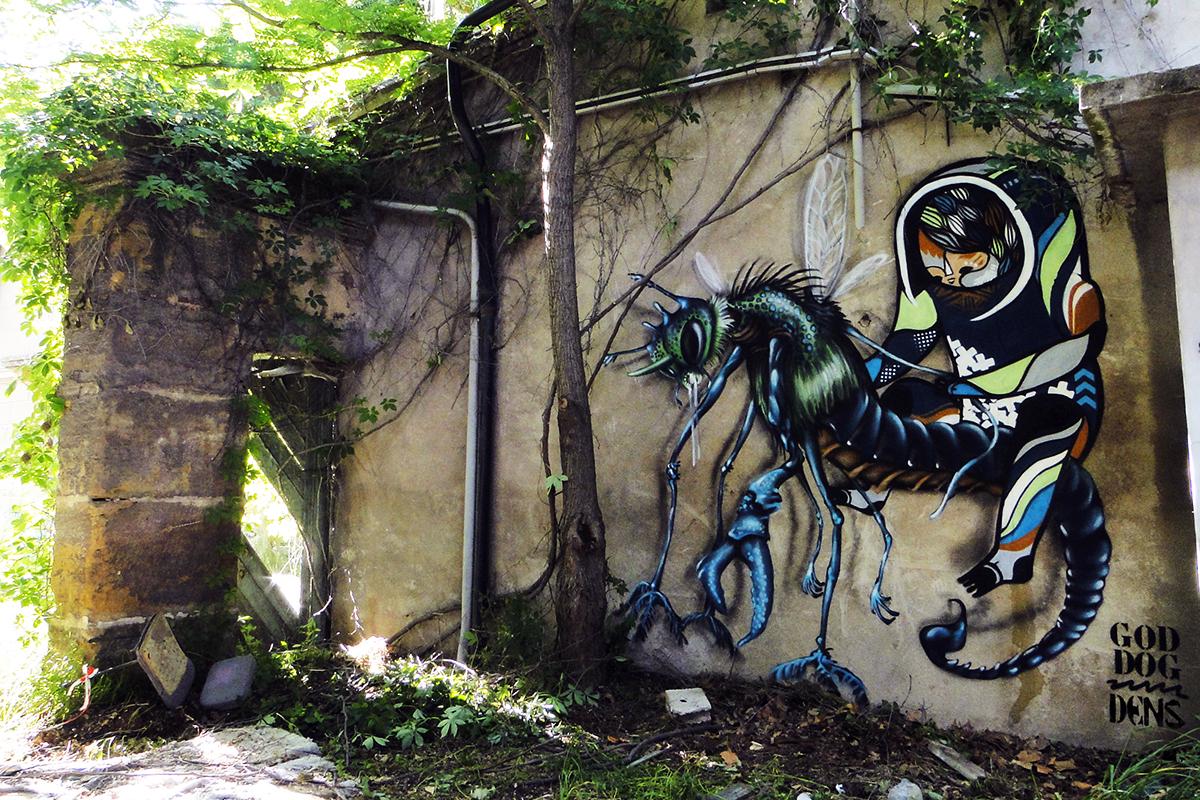 GoddoG & Dens graffiti Avignon