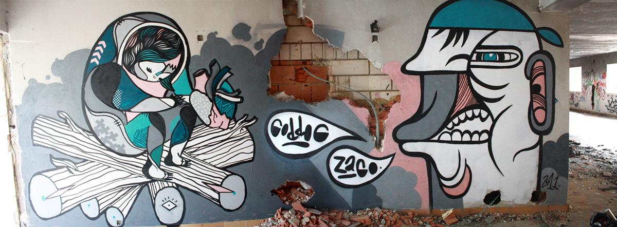 GoddoG & Zago graffiti