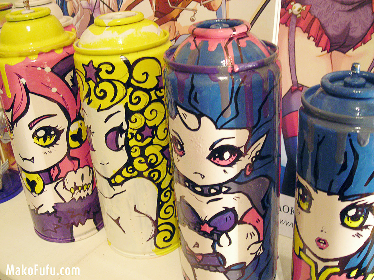 © MakoFufu - Custo of spray cans