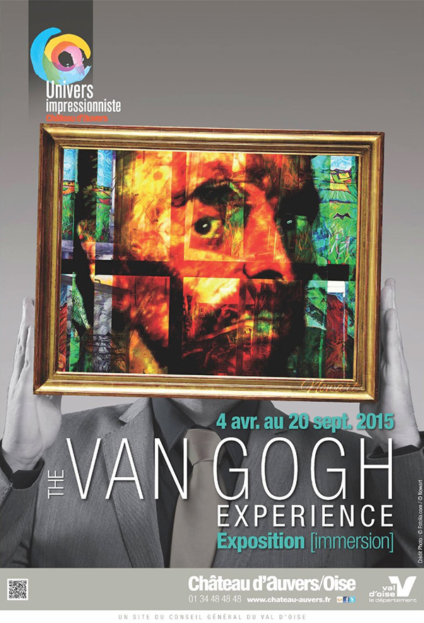 Affiche sur les pas de Van Gogh Auvers-sur-Oise
